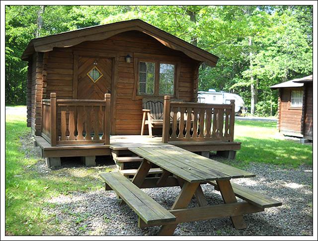 Primitive Rustic Cabins Tanglewood Camping