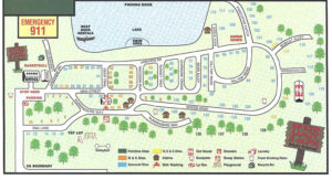 2017 Campground Sitemap for Tanglewood Camping in Covington PA